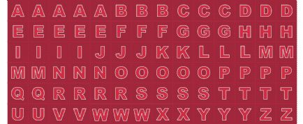 Lewis & Irene - Christmas Glow - 6707 -  Alphabet Letters in Red - C49.2 - Cotton Fabric